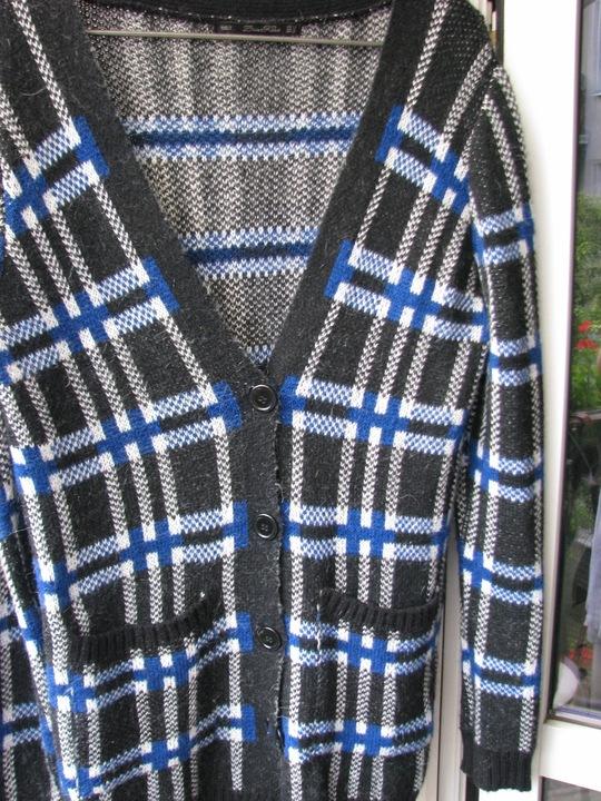 Sweter kardigan ZARA L krata 9734853024 Odzież Damska Swetry CT PWBZCT-2