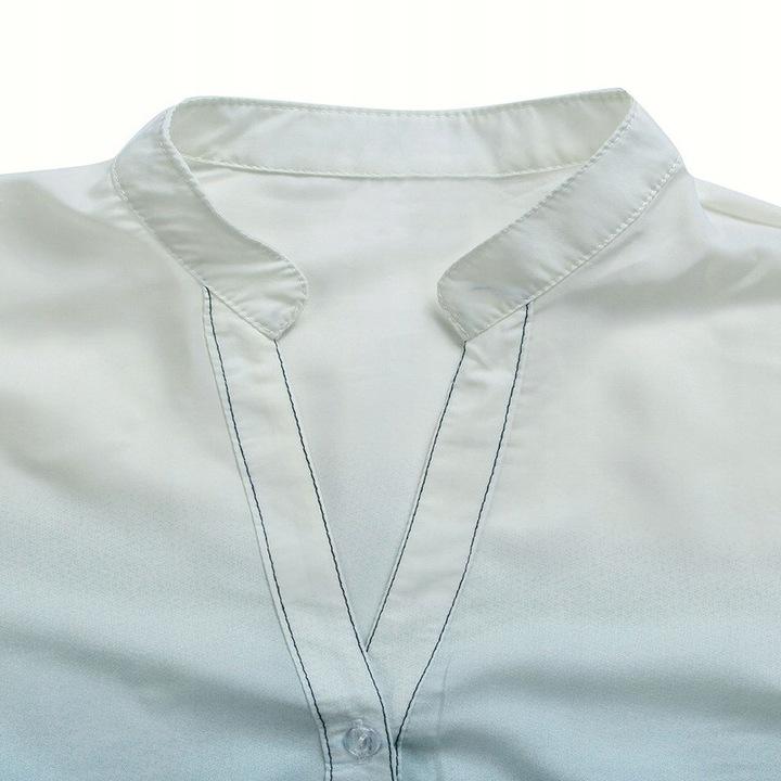 Women's shirt OMBRE white and blue navy blue. S 9664447029 Odzież Damska Topy JG JUIYJG-2