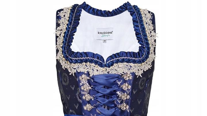 Dirndl Sukienka Bawarska OKTOBERFEST 42 KRüGER 8918396317 Odzież Damska Sukienki wieczorowe VI JSXXVI-1
