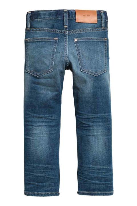 H&M spodnie dżinsowe super soft granatowe 122 8830632665 Dziecięce Odzież RQ QTBHRQ-7