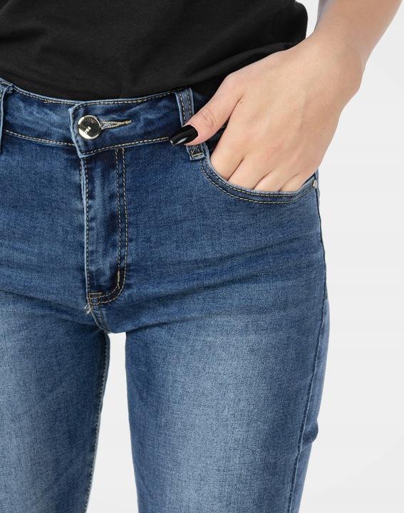 Damskie Spodnie Rurki Jeans ze Streczem 3852 82 cm 7464873006 Odzież Damska Jeansy FU BPJGFU-5