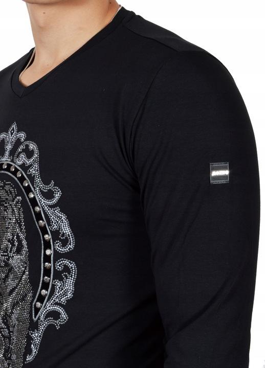Bluzka Meska Longsleeve Shine Mondo Jesień Slimfit 9679521581 Odzież Męska Koszulki z długim rękawem BK INTABK-1