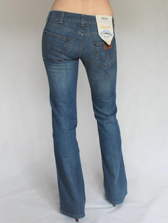 WRANGLER - spodnie MEGAN BOOTCUT LEG W27 L34 LONG 9331545676 Odzież Damska Jeansy VE HFYZVE-2